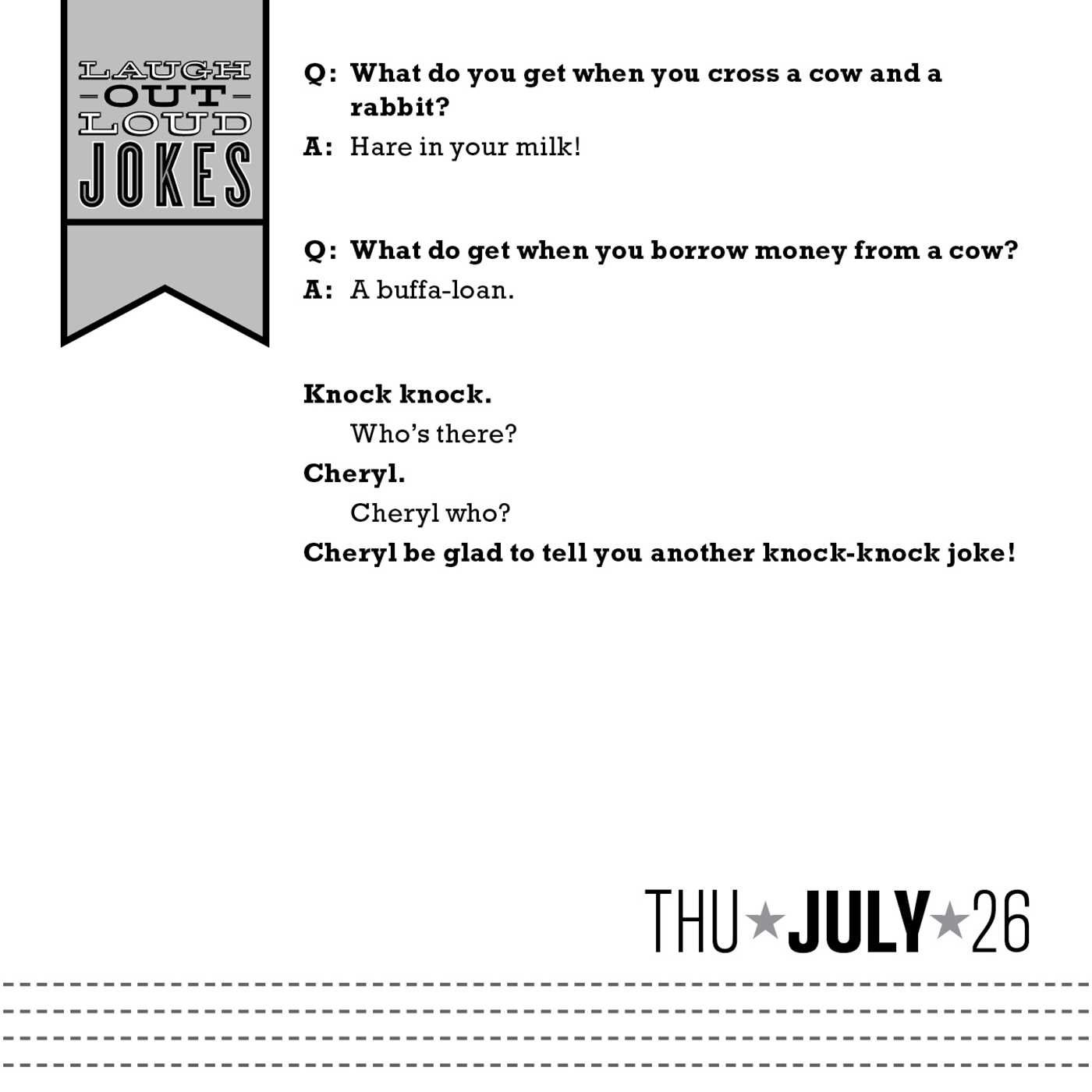Amazon.com: Laugh-Out-Loud Jokes 2018 Day-to-Day Calendar ...
