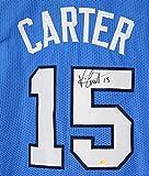 Vince Carter North Carolina Tar Heels Signed Autographed Blue #15 Custom Jersey