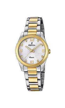 Festina Reloj Análogo clásico para Mujer de Cuarzo con Correa en Acero Inoxidable F20209/1: Amazon.es: Relojes