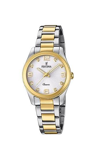 Festina Reloj Análogo clásico para Mujer de Cuarzo con Correa en Acero  Inoxidable F20209 1  Amazon.es  Relojes 0d7bc3e63489