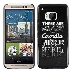 Be Good Phone Accessory // Dura Cáscara cubierta Protectora Caso Carcasa Funda de Protección para HTC One M9 // Spreading The Light