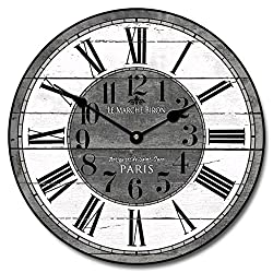 French Street Market Wall Clock, Available in 8 sizes, Most Sizes Ship 2 - 3 days, Whisper Quiet.