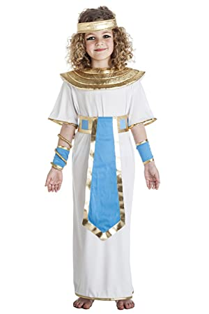 Niña Disfraz Faraona Y Egipcia Blanco Para De Azul UVqMSzp