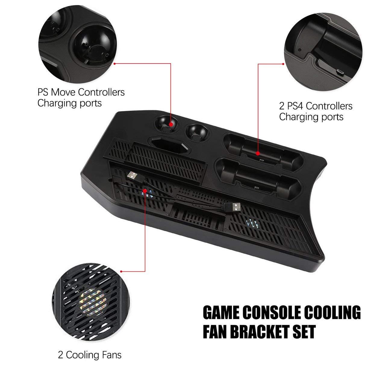 PSVR2-schwarz BCVBFGCXVB KJH Charger Controller Vertikaler St/änder Gamepad Ladestation Konsolenk/ühler f/ür PS Move f/ür PS4 Slim f/ür PS4 Pro f/ür PSVR