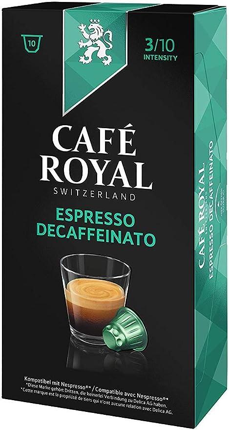 Café Royal Espresso Decaffeinato 100 cápsulas compatibles con Nespresso* Intensidad: 3 de 10 (Pack de 10 x 10 cápsulas): Amazon.es: Alimentación y bebidas