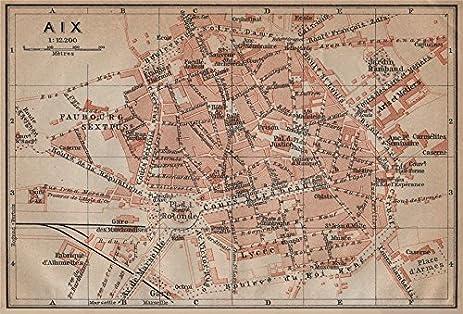 Amazoncom AIXENPROVENCE antique town city plan de la ville