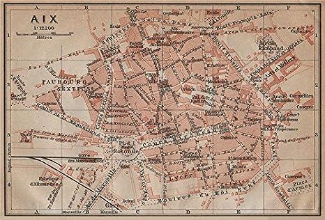 Amazon.com: Aix-en-Provence Ciudad Ciudad Plan de la ville ...