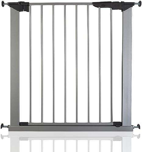 BabyDan Premier - Bebé Puerta de la Escalera Barrera de Seguridad Plata, 73,5-79,6cm: Amazon.es: Bebé