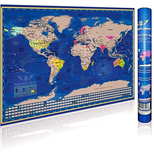hot sale Scratch-Off World Map Poster – Premium Print
