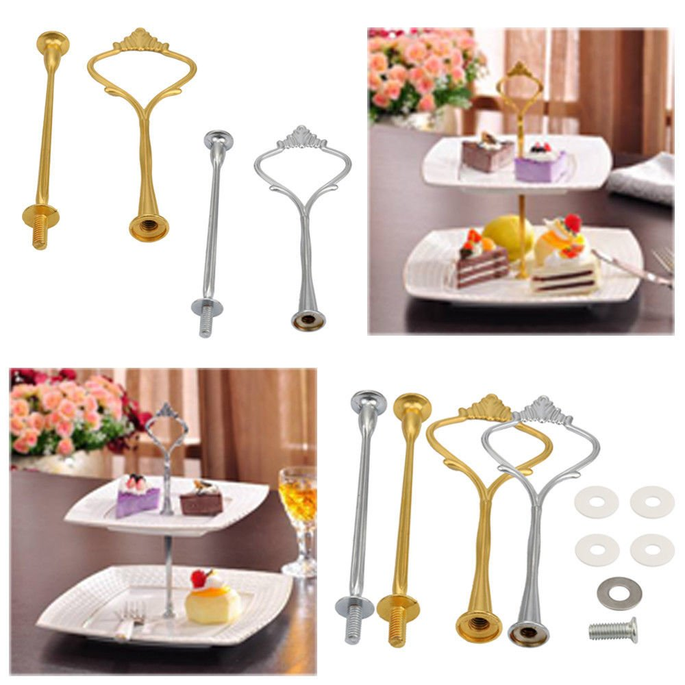 FidgetGear Crown 2/3 Tier Cake Cupcake Plate Stand Handle Hardware Fitting Holder by FidgetGear (Image #7)