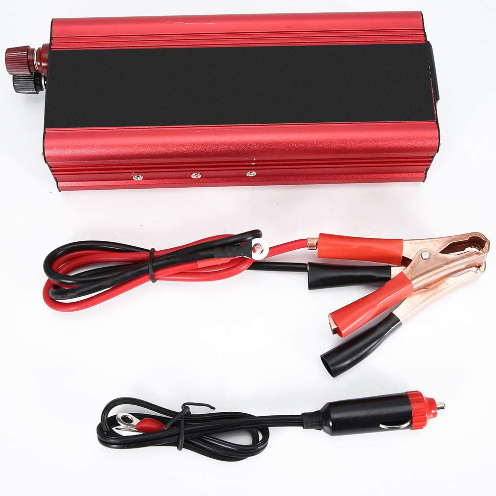 Inversor de corriente para automóvil, Universal 12V 24V Convertidor de energía solar para automóvil 6000W Convertidor de 12V a 220V Inversor de automóvil Indicador LCD Carga USB