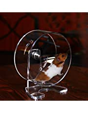 Hamster Rueda para correr Rueda silenciosa Rueda giratoria Acrílico Rueda de ejercicio Jogging Juguete para correr