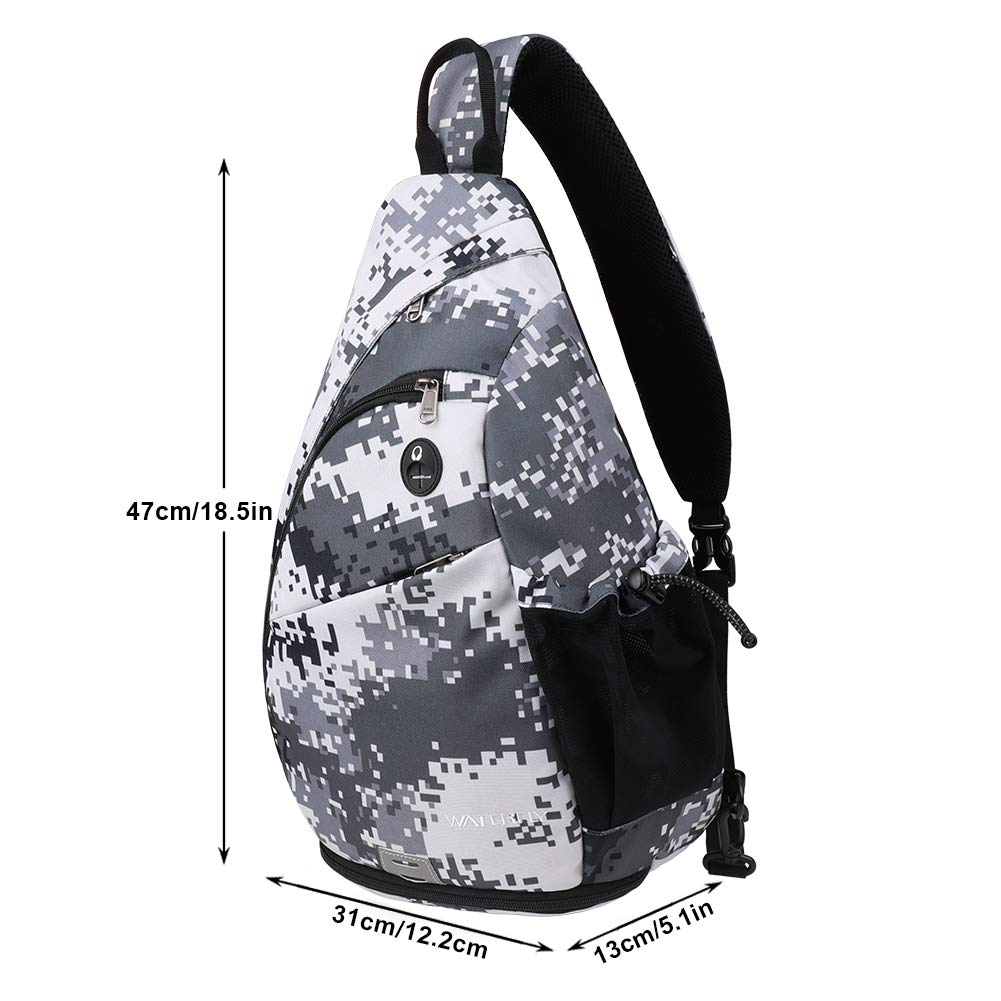 0b37f7a6948 Amazon.com : Waterfly Sling Backpack Sling Bag Small Crossbody Daypack Casual  Backpack Chest Bag Rucksack for Men & Women Outdoor Cycling Hiking Travel  ...