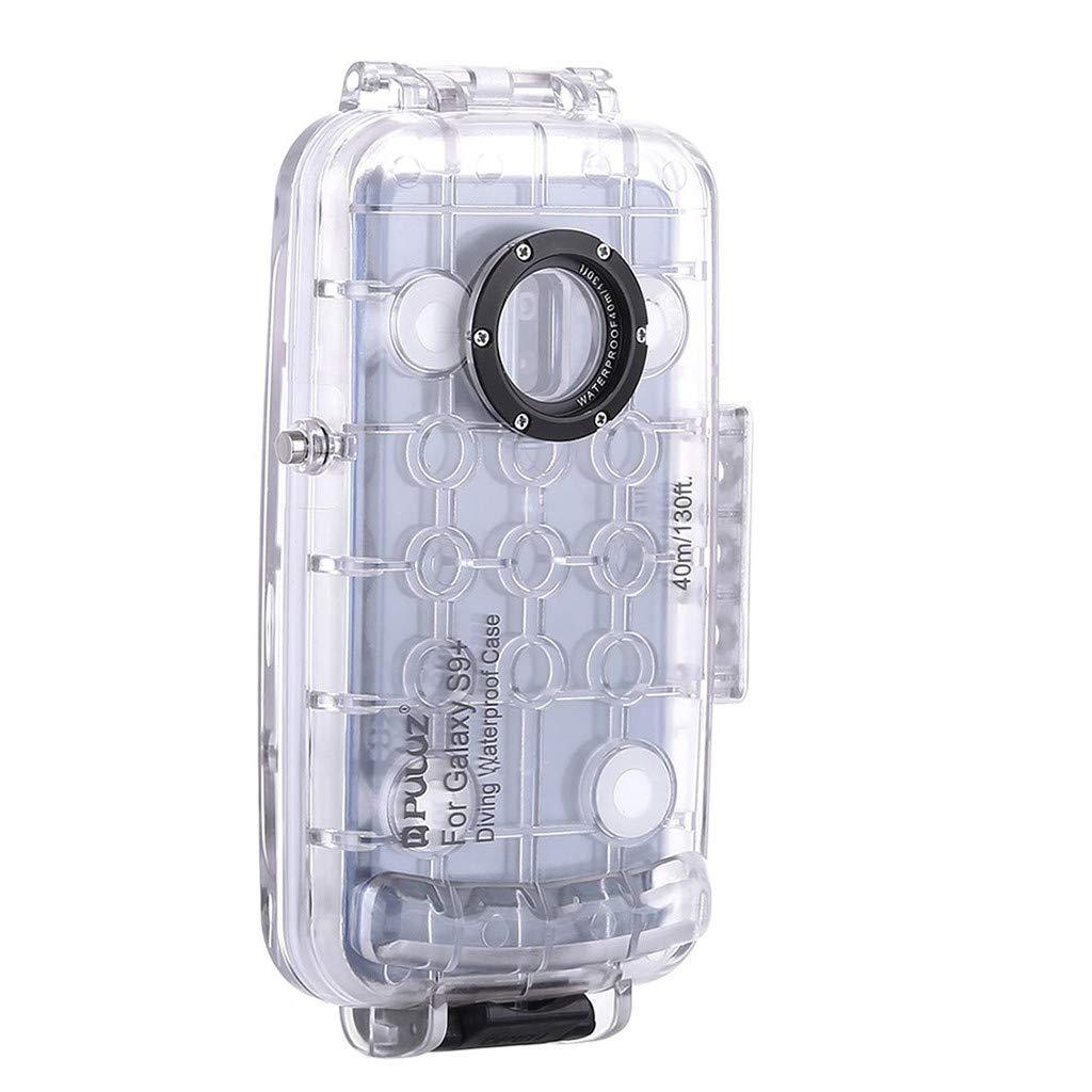 Futemo Galaxy S9+ 6.2インチ ダイビング電話保護ケース 防水 水泳 ダイビングシェル  クリア B07QGDZL86