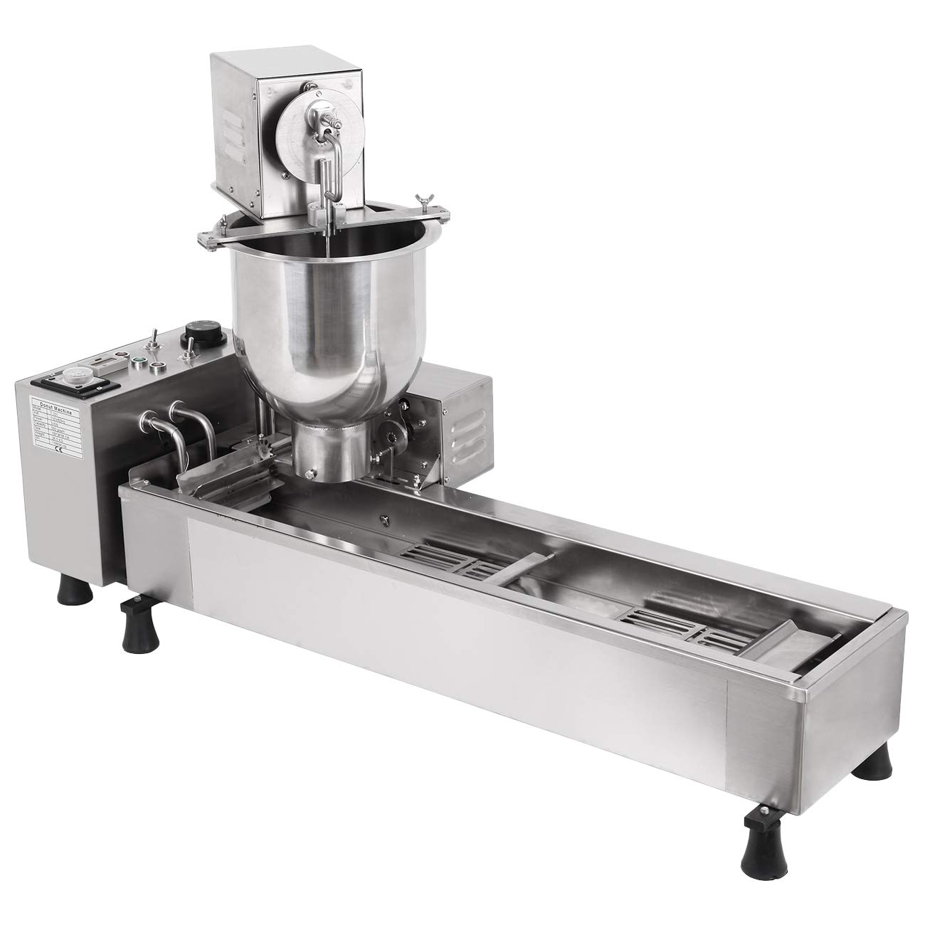 Ridgeyard Commercial Automatic Donut Making Machine Auto Donut Maker Machine with 3 Sizes Molds and 7L Bucket 110V 3000W, Ship From US by Ridgeyard (Image #2)