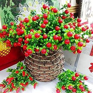 Decor - 1pc Artificial Plants Simulation Of Fruit 6 Branch Rich Lucky Auspicious Silk Flower Home Flowers - Mint Light Marigolds Centerpieces Royal Blue Petals Tape Calla Greenery Grey Salmo 103