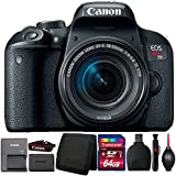 Canon EOS Rebel T7i 24.2MP DSLR Camera with 18-55mm Lens and Accessory Bundle