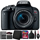 Canon EOS Rebel T7i 24.2MP DSLR Camera with 18-55mm Lens and Accessory Bundle For Sale