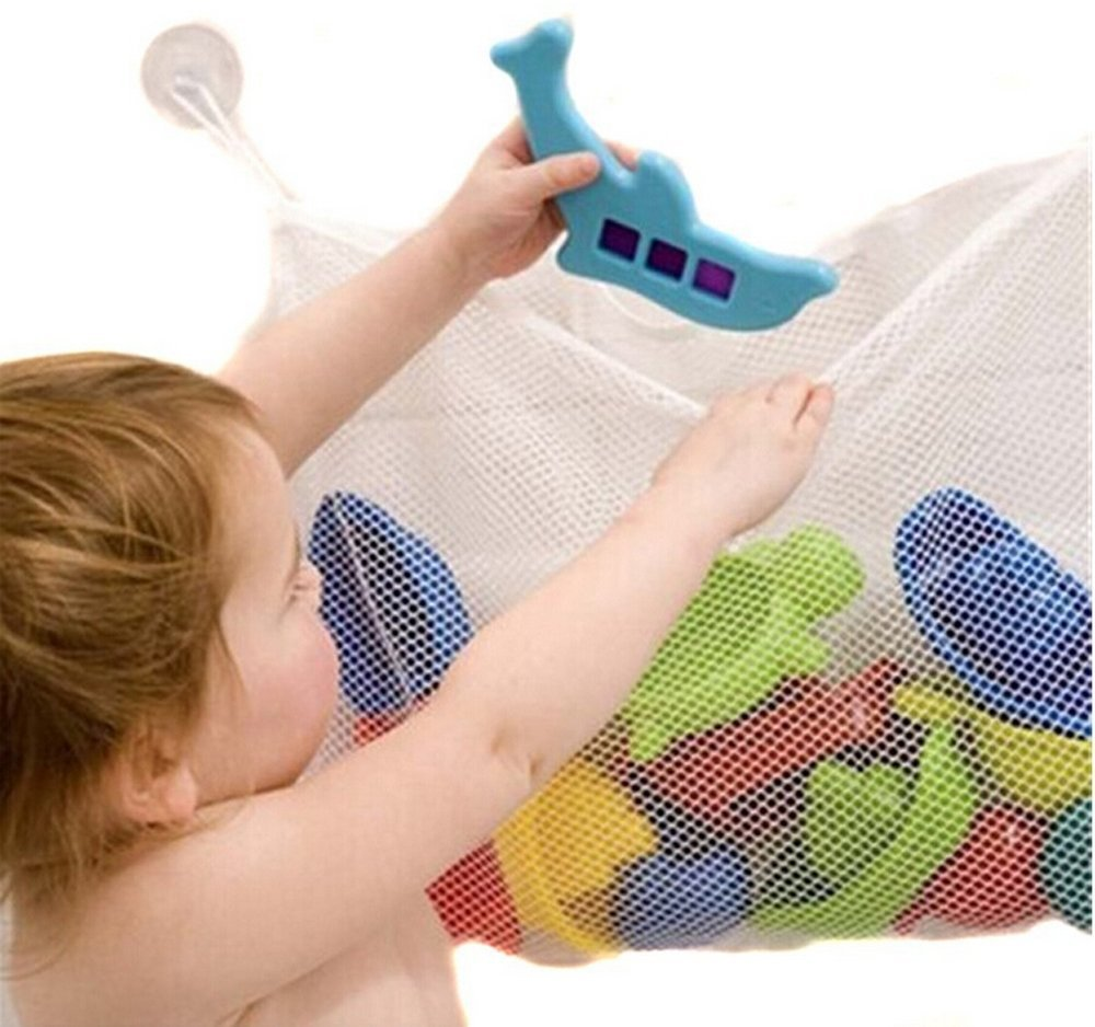 Lalang Kids Baby Bath Time Toys Storage Suction Bag Bathroom Toys Bag 45*35cm 88_Store