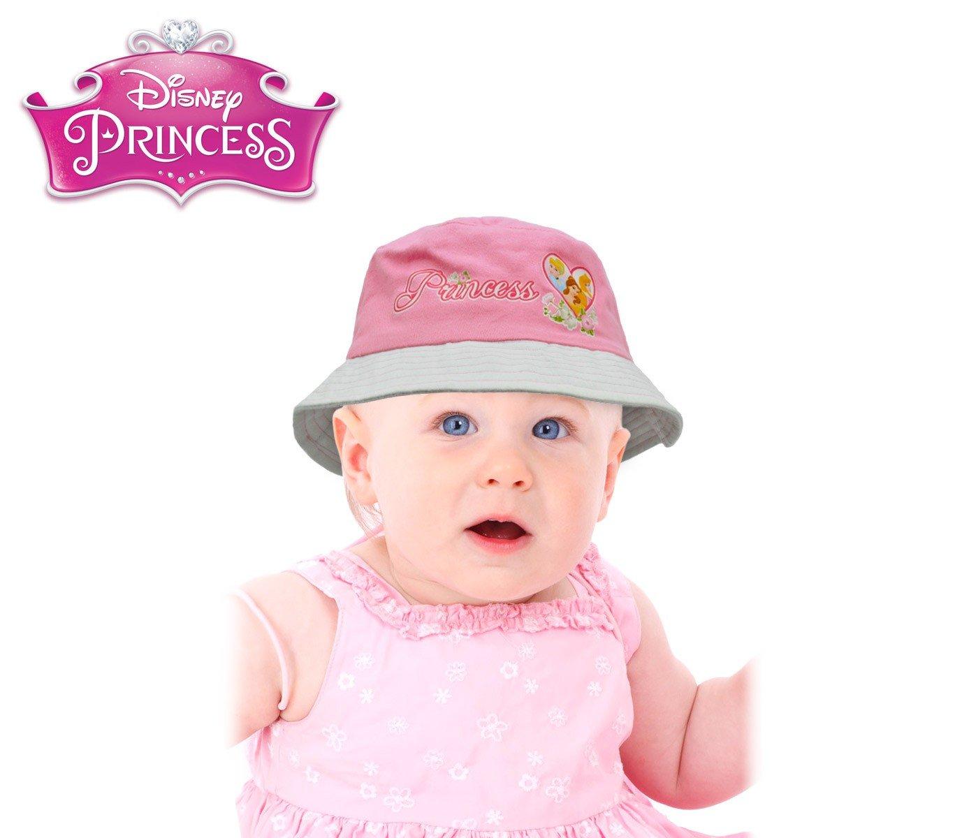 305878 Sombrero infantil tipo pescador con diseño PRINCESAS DISNEY - Rosa, 48 cm Princess