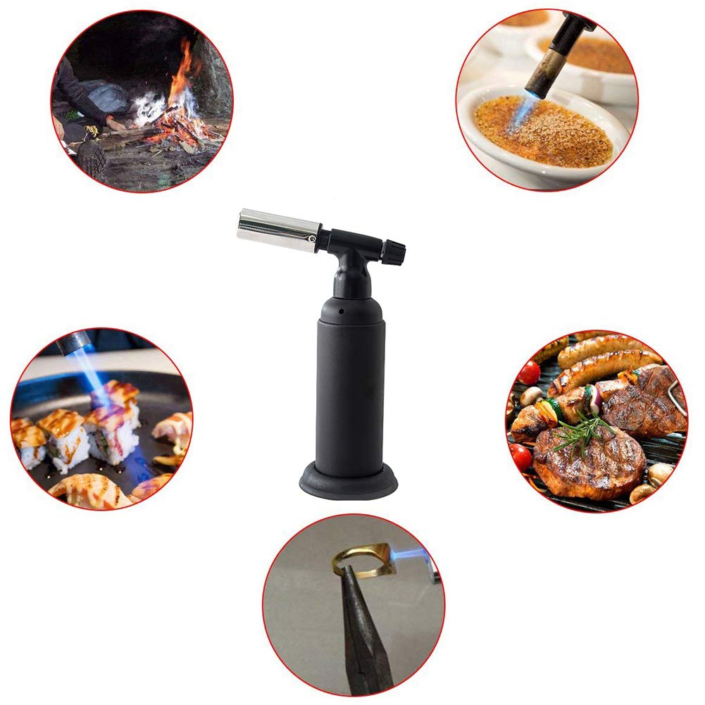 Wgwioo Blow Torch/Kitchen Butane Torch,for Cooking/BBQ/Baking/DIY/Camping by Wgwioo (Image #2)