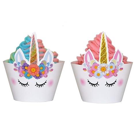 Amazon.com: Juego de 24 Premium Sparkle Unicorn envoltorios ...