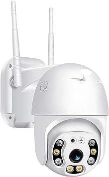 Opinión sobre Camara de Vigilancia WiFi Exterior,Pan/Tite Camaras 1080P Full HD, Camera WiFi IP Impermeable IP66 con Audio de Dos Vías,Visión Nocturna 50M en Color Detección de Movimiento Monitorización