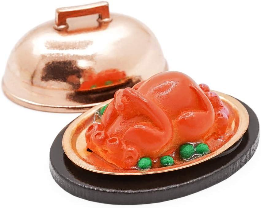 Odoria 1:12 Miniature Food Toast Turkey with Cover Dollhouse Kitchen Accessories