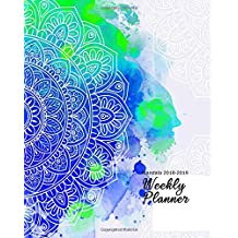 """Mandala 2018-2019 Weekly Planner: Mandala Inspirational Quotes Weekly Daily 16 Monthly   Planner 2018-2019-2010  8 x 10""""  Calendar Schedule   Organizer"""