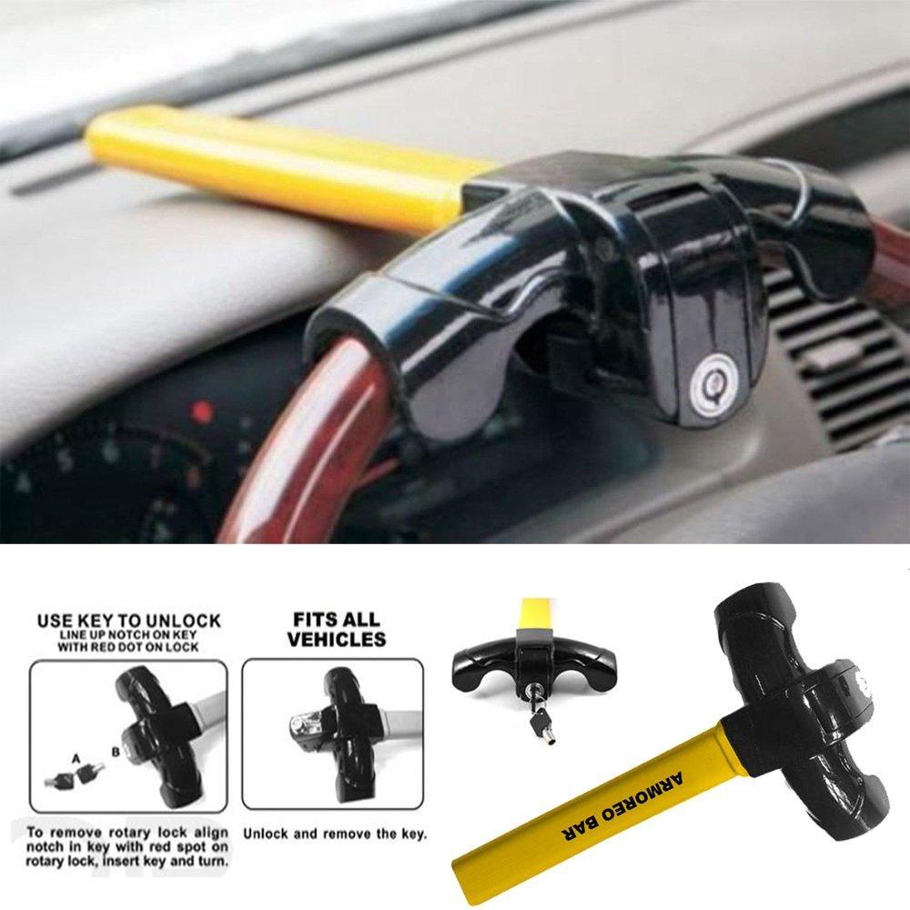 Universal Security Anti Theft Heavy Duty Car SUVs Rotary Steering Wheel Lock B019YU6RCQ
