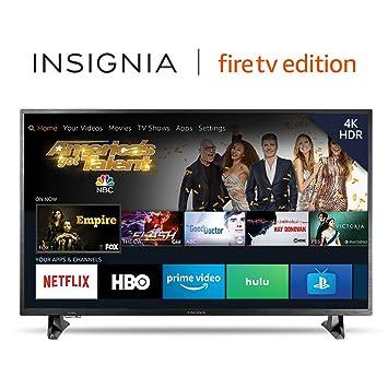51fbadb2e34 Amazon.com  Insignia NS-43DF710NA19 43-inch 4K Ultra HD Smart LED TV HDR - Fire  TV Edition  Electronics