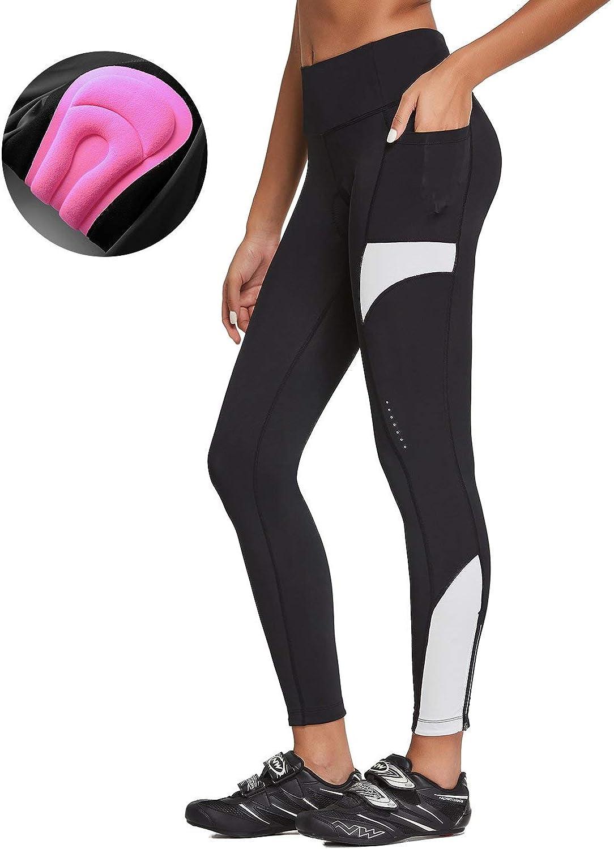 BALEAF Womens Cycling Tights 3D Padded Bike Leggings Bicycle Pants High Waist Compression