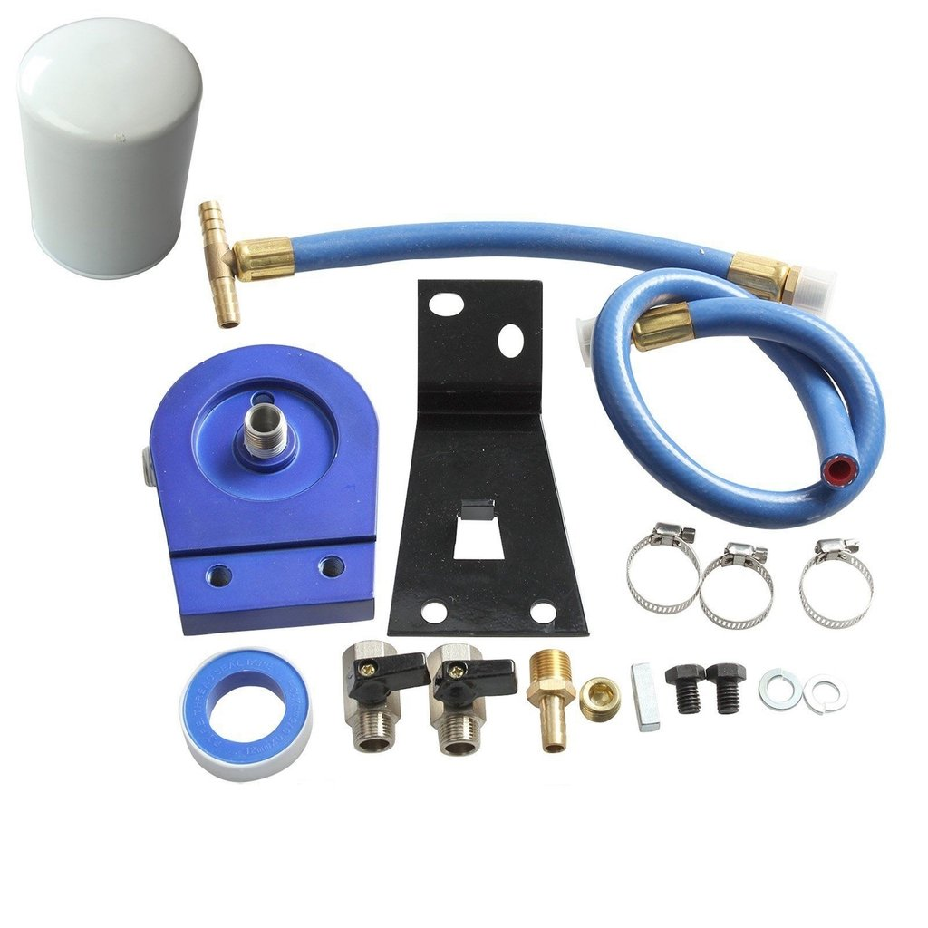 Coolant Filtration Filter System Kit For 99-03 Ford 7.3L Powerstroke Diesel blackhorseracing