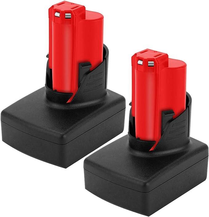 2X For Milwaukee M12 New Battery 12V 48-11-2440 XC3.5 Li-ion 48-11-2411 M12B4 M12B2