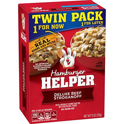 (Betty Crocker Dry Meals Hamburger Helper Deluxe Beef Stroganoff Twin Pack, 11 Ounce)