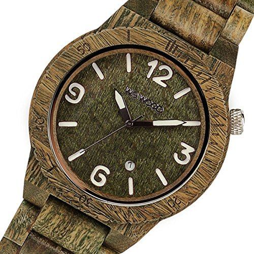 Wee Wood WEWOOD wooden men's watch ALPHA-ARMY Army