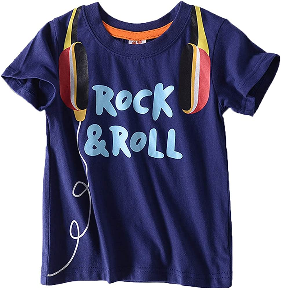Lurryly Baby Boys Girls Toddler Clothes Short Sleeve Cartoon Tops T-Shirt Blouse 2-8 T