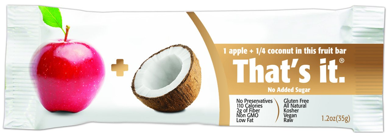 That's It Apple Coconut Snack Bar Gluten Free1.2 oz, Pack of 144