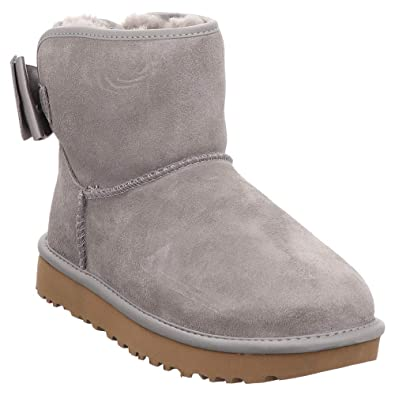 aa2e7cd18b652 Women s Shoes UGG Grey Satin Bow Mini Boot Fall Winter 2019  Amazon ...