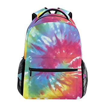 b5d5379e37fa BENNIGIRY Personalized Tie Dye Backpack Daypack Book Bag School Bags for  Boys Girls