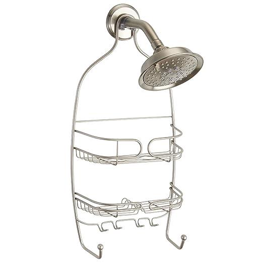 InterDesign Neo colgador ducha con 2 cestas y 4 ganchos ...