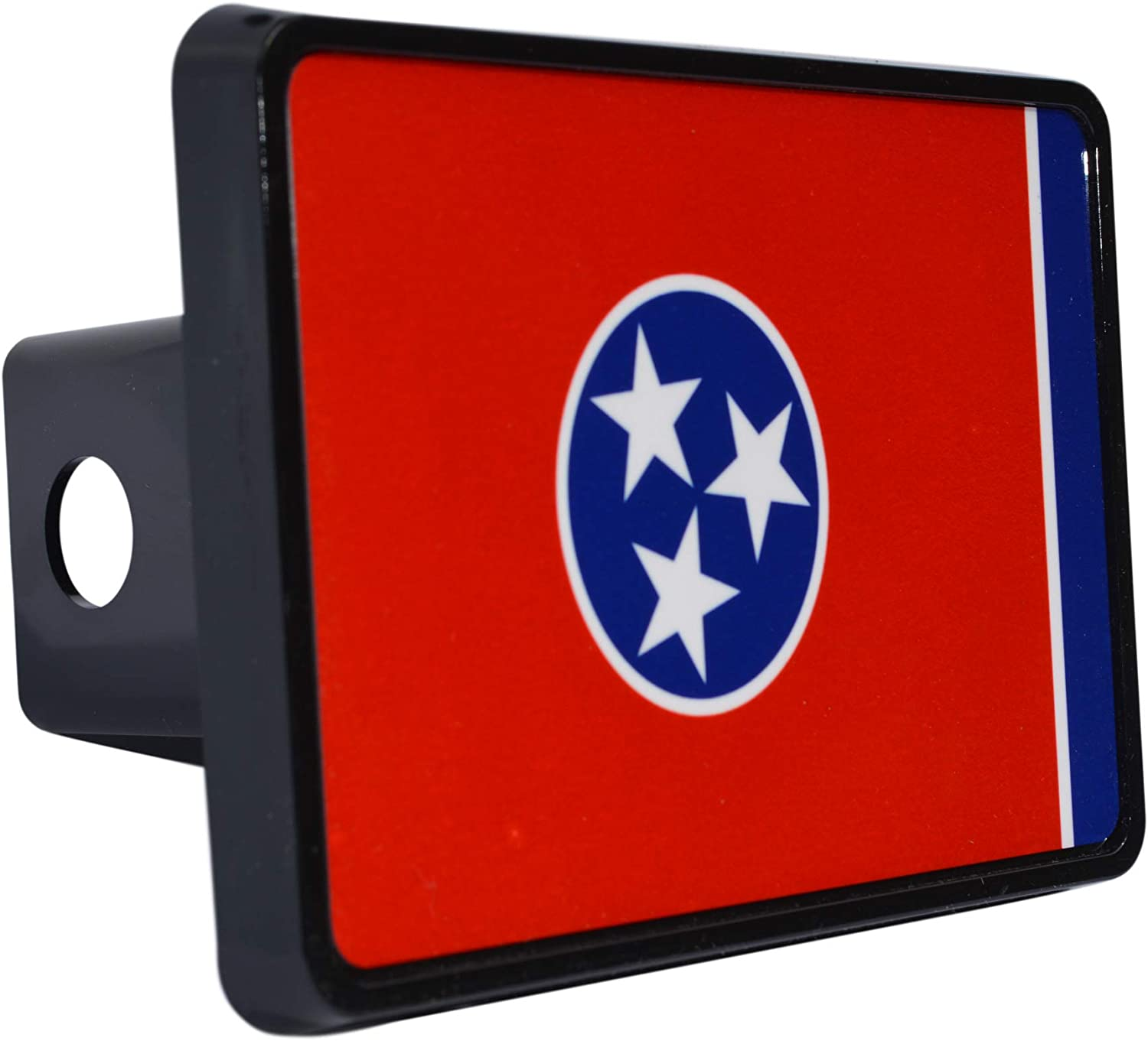 Rogue River Tactical Tennessee State Flag Trailer Hitch Cover Plug TN