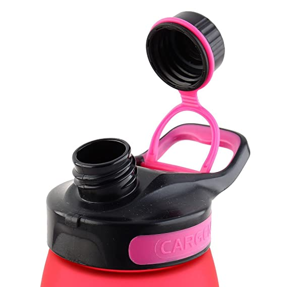 Amazon.com : eDealMax plástico al aire Libre Deportes Botella de agua portátil, Viajar Taza de la Taza, 900 ml Bicicleta Cantina : Sports & Outdoors