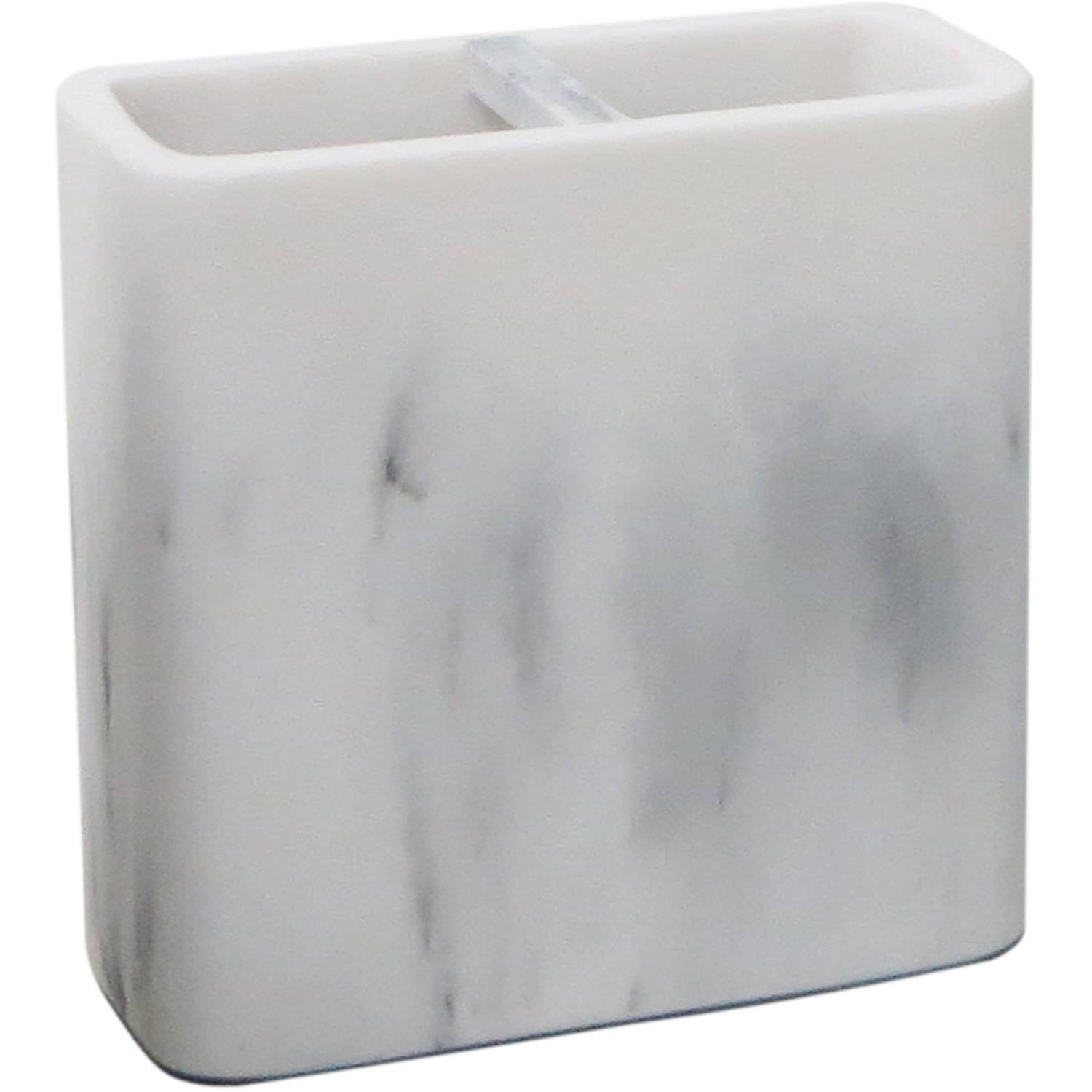 Better Homes and Gardens Marble Toothbrush Holder, White