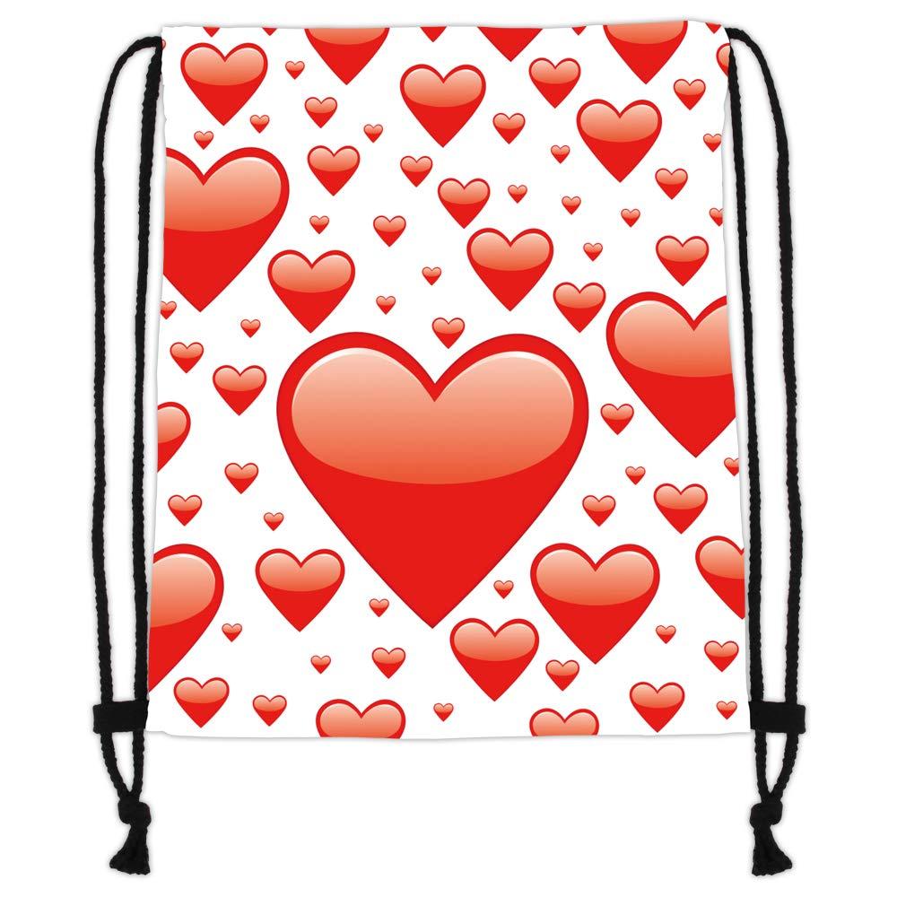 Bolsa moderna para el gimnasio Impresi/ón con motivo Amor hacer deporte o la compra Bolsa de yute blanca de Hanessa