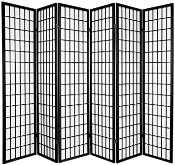 tokyo japanese handmade room divider privacy screen black 6