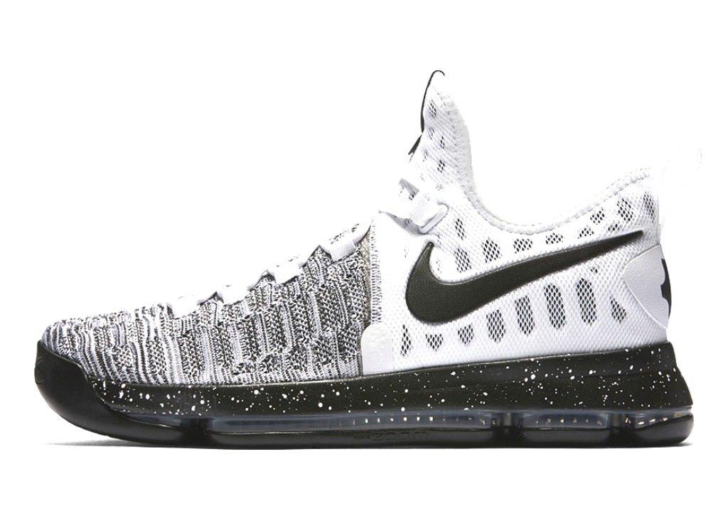 Nike Mens Zoom KD9 Elite Basketball Shoe  Large|White Black 100