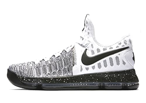 half off 762e7 713e5 Nike Zoom KD 9 Men's Basketball Sneaker (12, White/Black)