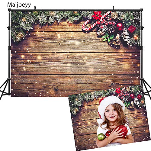Maijoeyy 7x5ft Christmas Snowflake Wood Photography Backdrop for Pictures Wood Photo Backdrop Children Photo Studio Props Christmas Party Decoration Backdrop 522606973-D1 -
