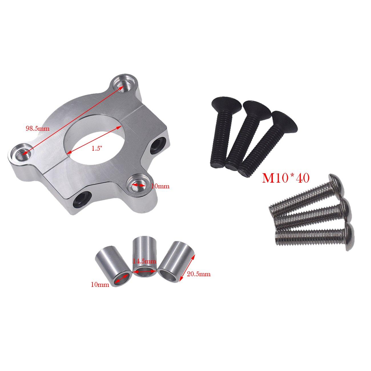 Supermotorparts Black CNC Adapter 44T Sprocket Fits 1 1.5 Hub 66cc 80cc Motorized Bicycle